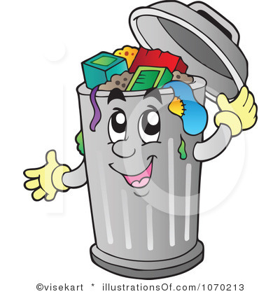waste clipart - Trash Can Clip Art