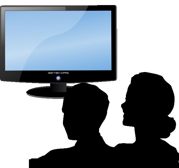Watching Tv Clip Art at Clker clipartall.com - vector clip art online, royalty 600 x 562. Download. watch tv ...