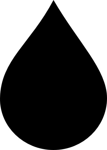 water drop clipart black and white