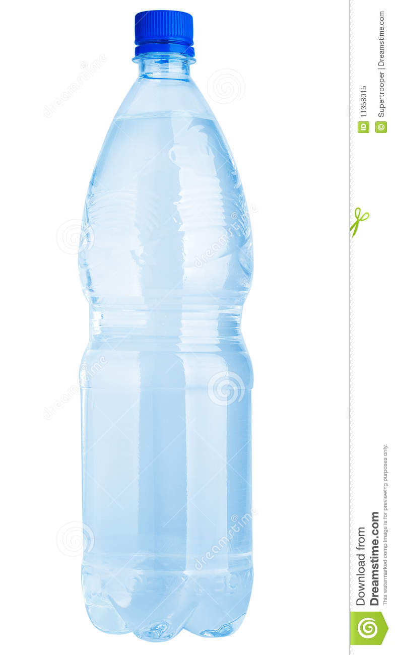 Water Bottle Clip Art. Plastic water bottle isolated