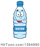 Cartoon Bottled Water Mascot #1394990