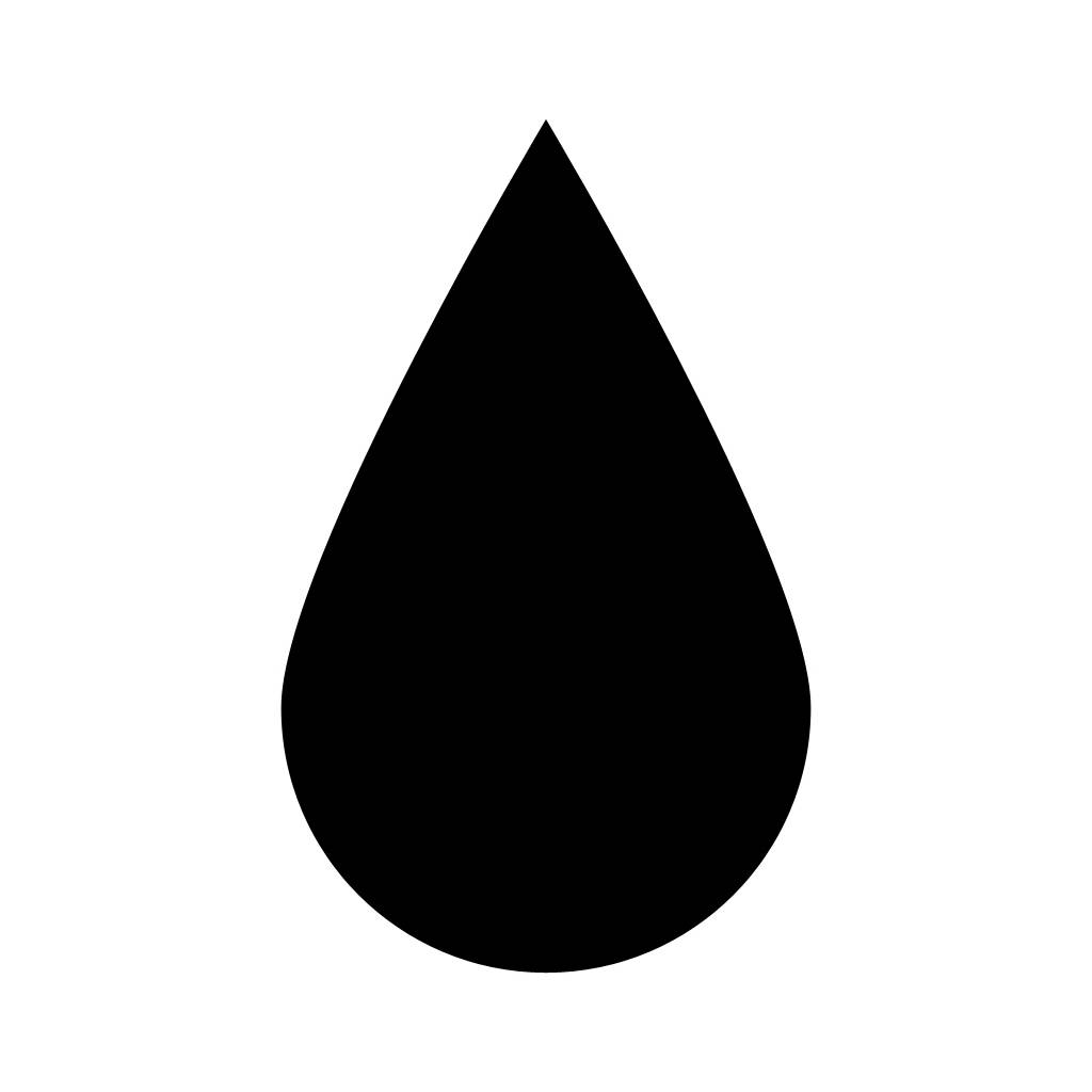 Water Drop Clip Art Black and .