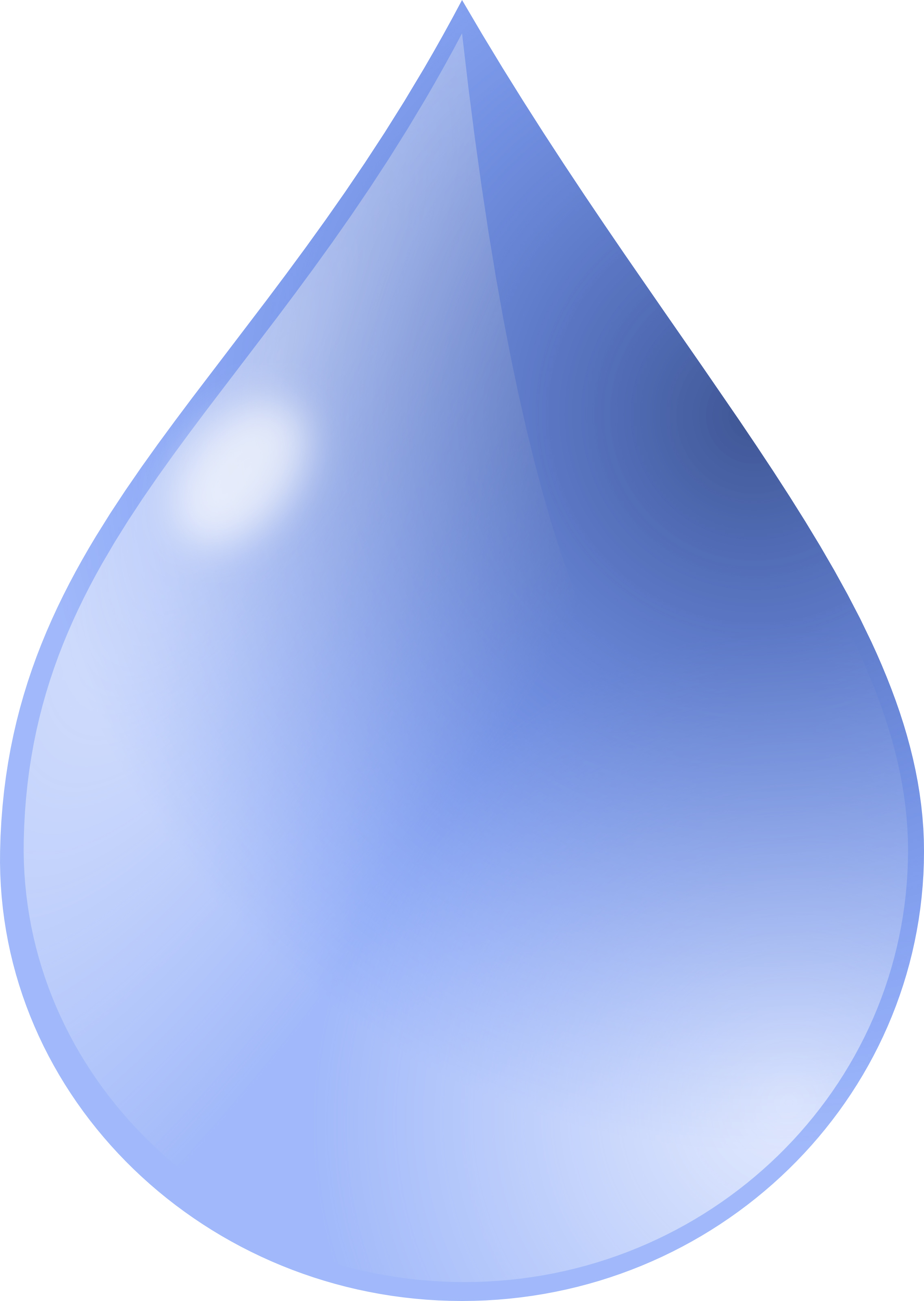 Free Water Drop Clipart Illustration #000162 .
