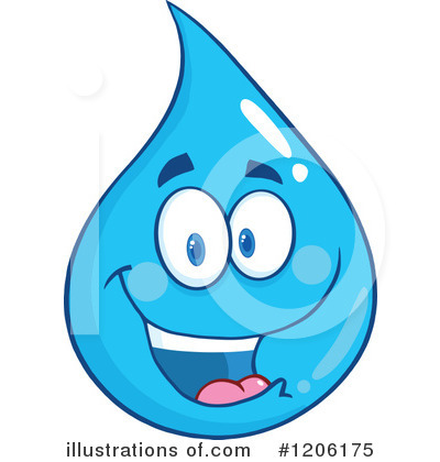 Royalty-Free (RF) Water Drop Clipart Illustration by Hit Toon - Stock Sample