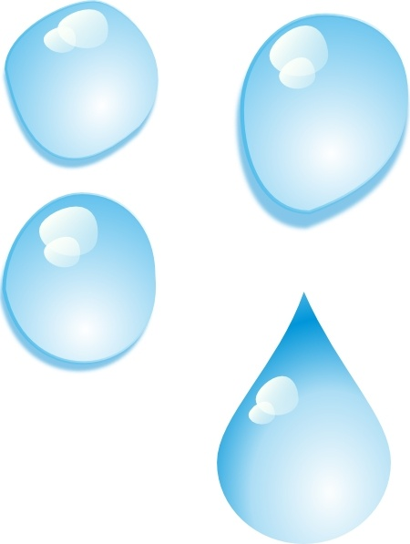 Set Of Water Drops clip art