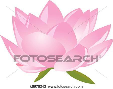 Clipart - lotus(waterlily). Fotosearch - Search Clip Art, Illustration  Murals,