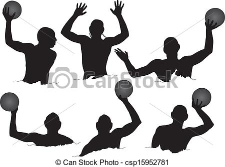 ... Water Polo Silhouette on white background
