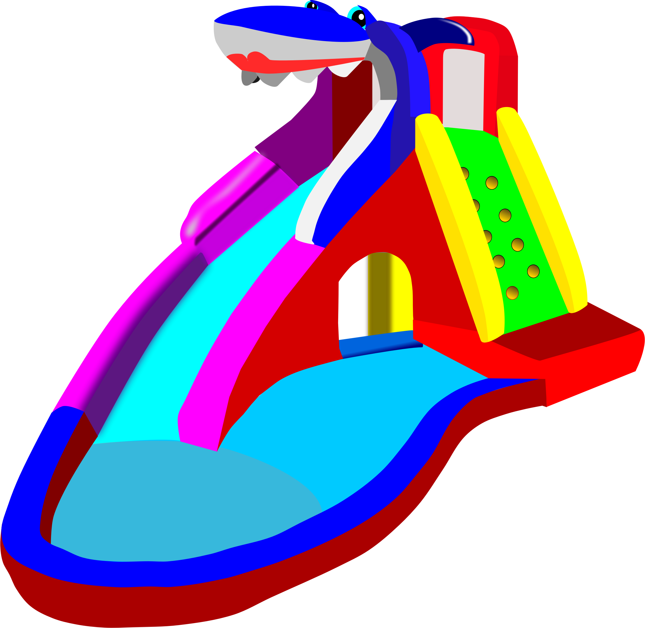 Water Slide Clip Art #12690