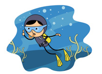 Water Sports Scuba Diver Thum - Scuba Clipart