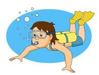 Water Sports Scuba Diver Thumbs Up Clipart Size: 118 Kb