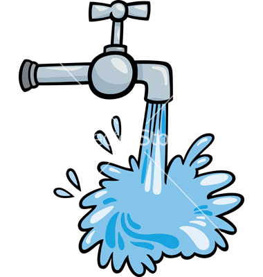 Water tap clip art cartoon .