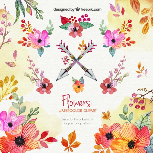 Watercolor Flowers Clipart-Watercolor flowers clipart-18