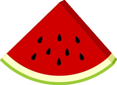 watermelon slice clipart