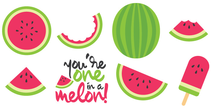 Celebrate the deliciousness of summer wi-Celebrate the deliciousness of summer with free watermelon cut files and  PNG clip art! Nine-14