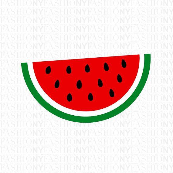 Watermelon Svg Watermelon Clipart Summer SVG Cricut Cutting Watermelon  Clipart, One In A Melon,