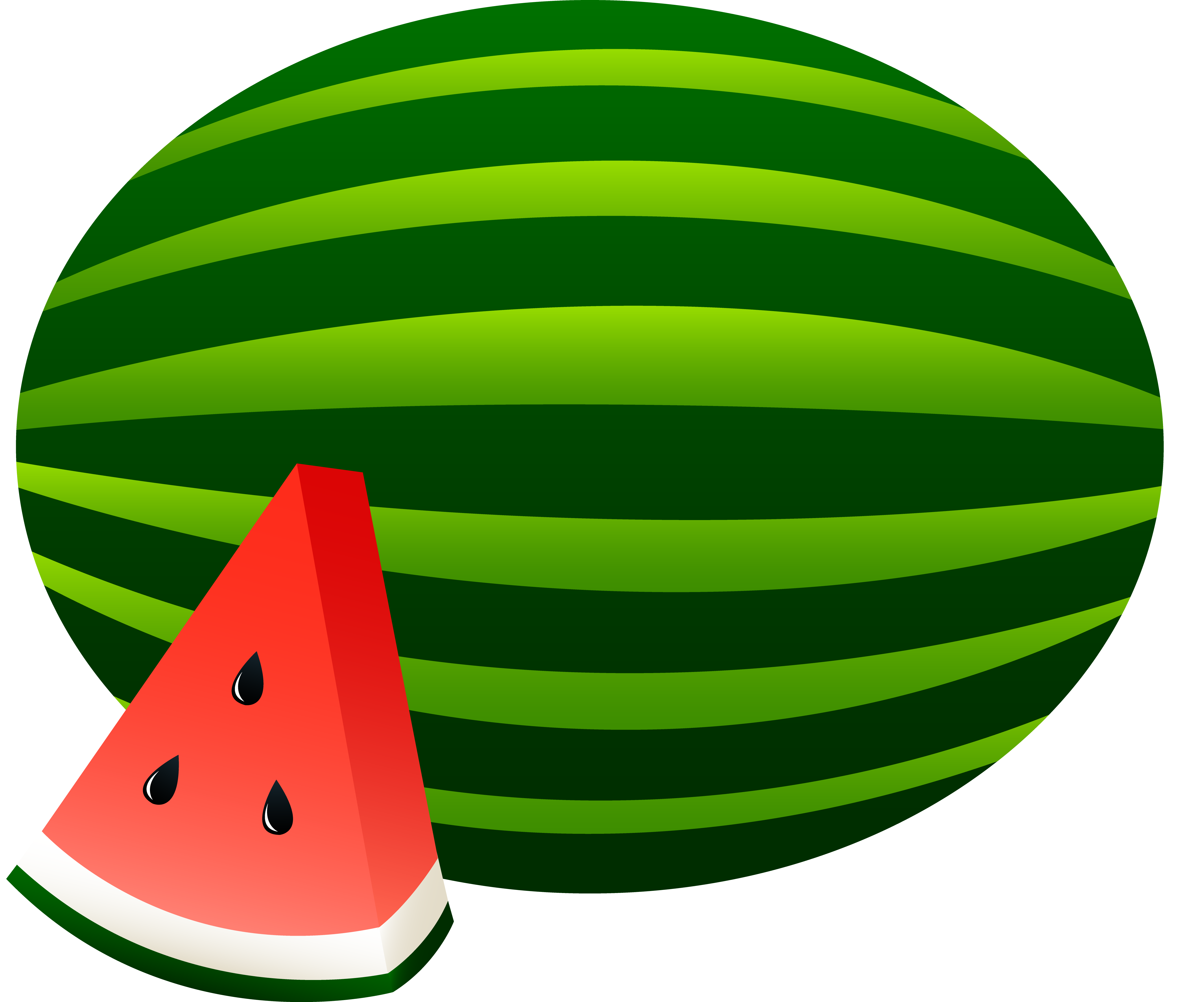 Watermelon Whole and Slice - Free Clip A-Watermelon Whole and Slice - Free Clip Art-11
