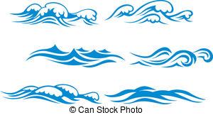 . ClipartLook.com Wave Symbols Set For D-. ClipartLook.com Wave symbols set for design isolated on white background-14