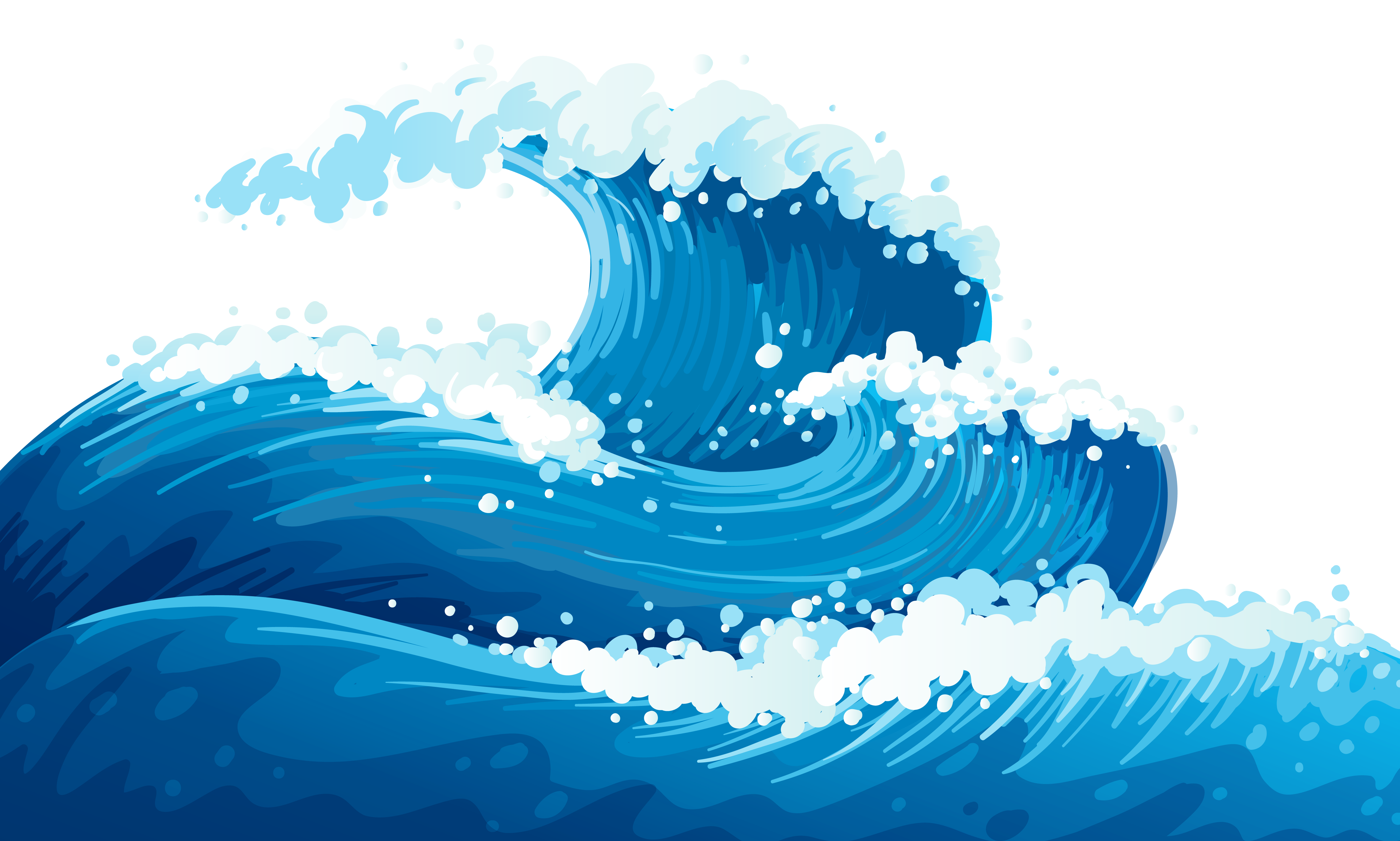 Waves Clip Art Transparent .