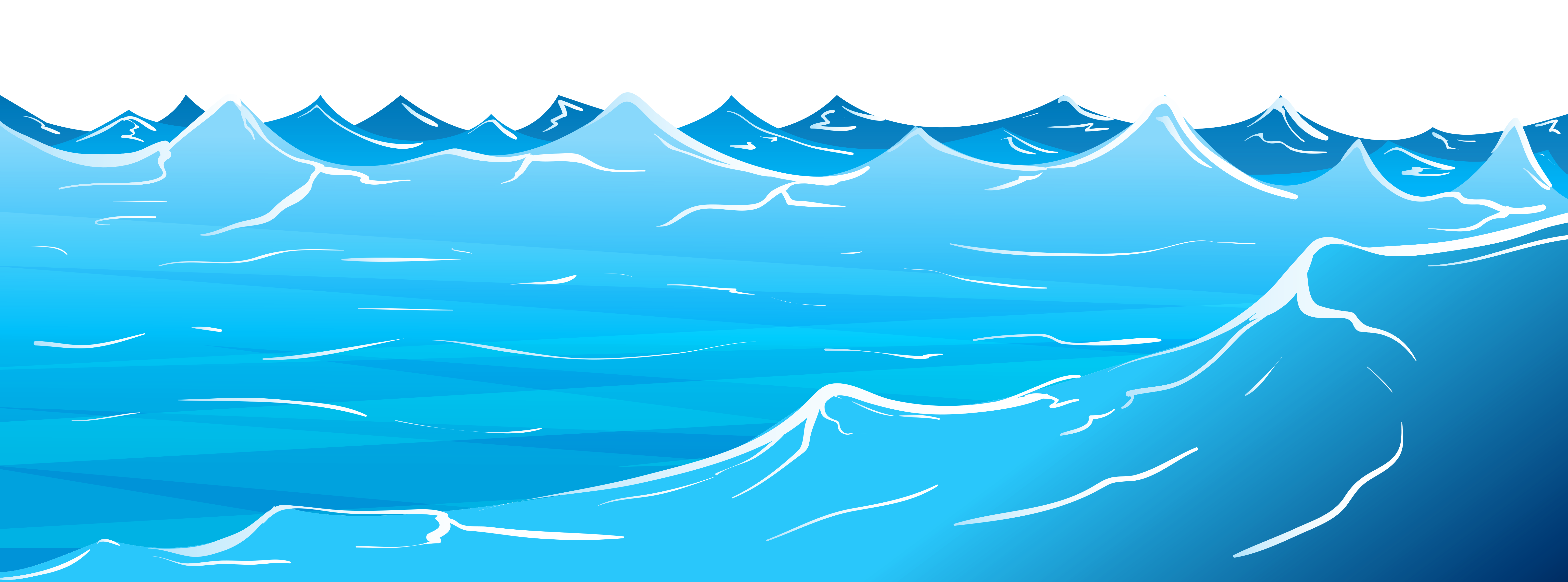 Waves ocean water clipart
