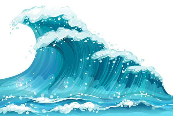 Waves on ocean waves clip art and ocean clipartcow
