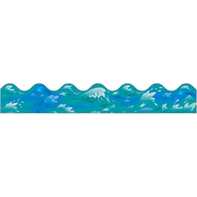 Waves water wave border . - Water Waves Clipart