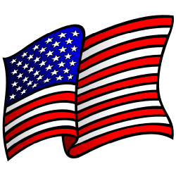 Waving american flag clip art free borders and clip art