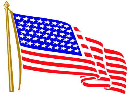 Waving American Flag Clip Art ..