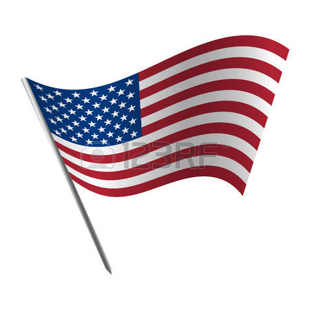 waving flag: United States Of America flag