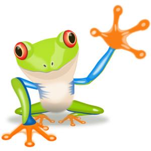 Waving Frog clip art - vector .-Waving Frog clip art - vector .-10