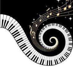 Wavy piano keyboard clipart - .-Wavy piano keyboard clipart - .-8