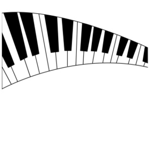 Wavy Piano Keys Clipart