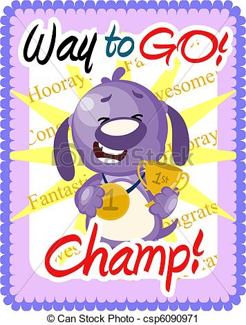 Way To Go Clipart Stock Illustration Way To Go