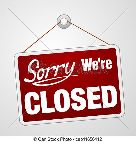 ... We Are Closed Sign - Closed retail store red vector... We Are Closed Sign Clipartby ...