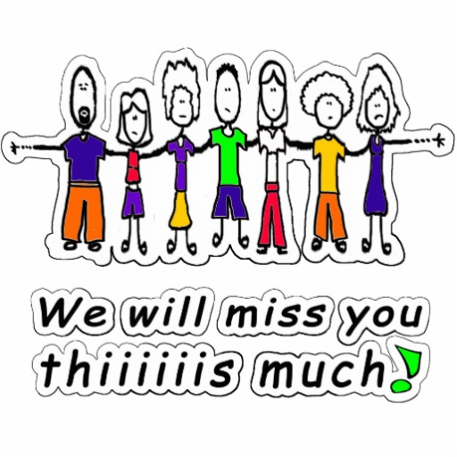 We Will Miss You Clip Art ..