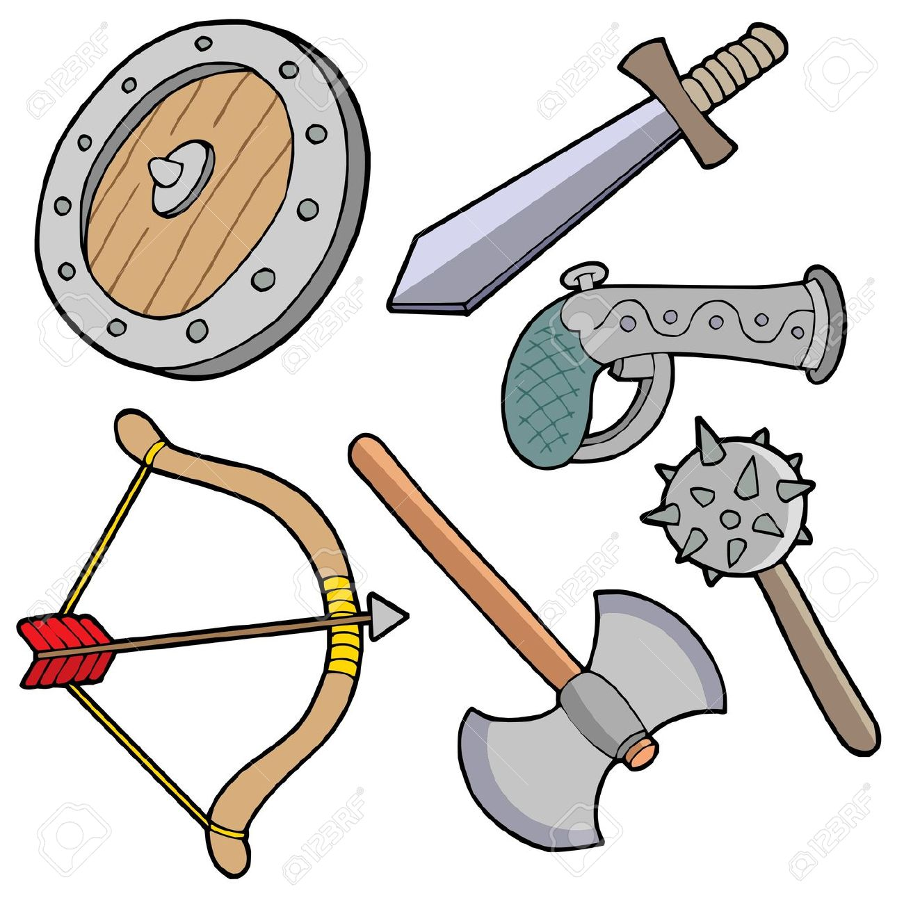 weapon clipart - Weapons Clipart