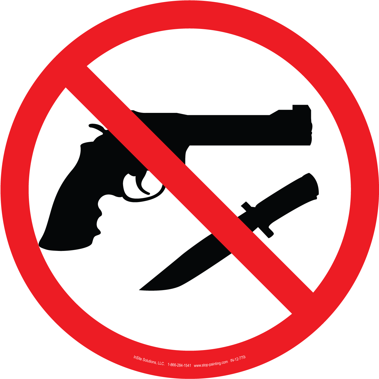 Weapons Not Allowed Floor Sign 18-Weapons Not Allowed Floor Sign 18-18