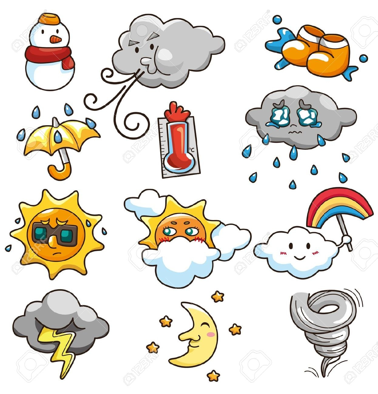 Weather ... Clipart .-Weather ... Clipart .-16