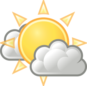 Weather few clouds clip art at clker vector clip art