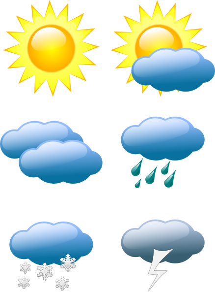 Weather Symbols - Clipart ... Download this image as: