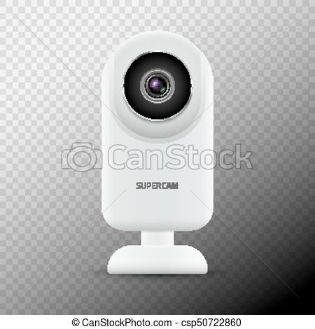 Realistic Computer Web Camera Isolated. Video Camera Technology Digital  Illustration. Webcam Device