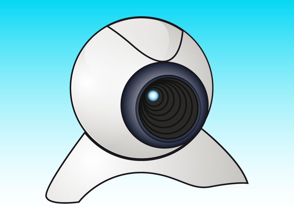 Web Camera Clipart drawing