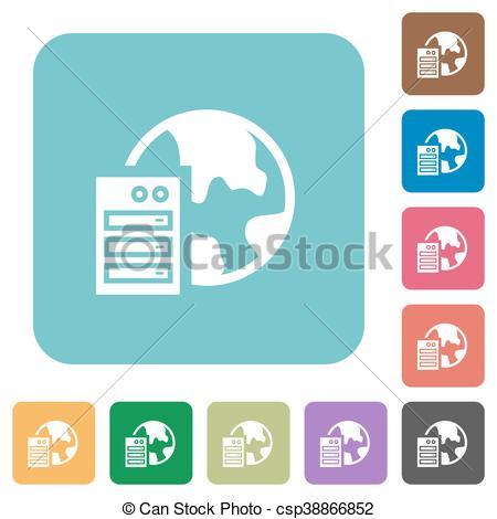 Flat web hosting icons - csp38866852