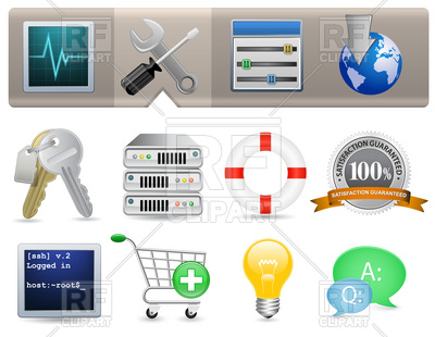 Web Hosting Panel Icon Set, 6044, download royalty-free vector vector image  ClipartLook.com