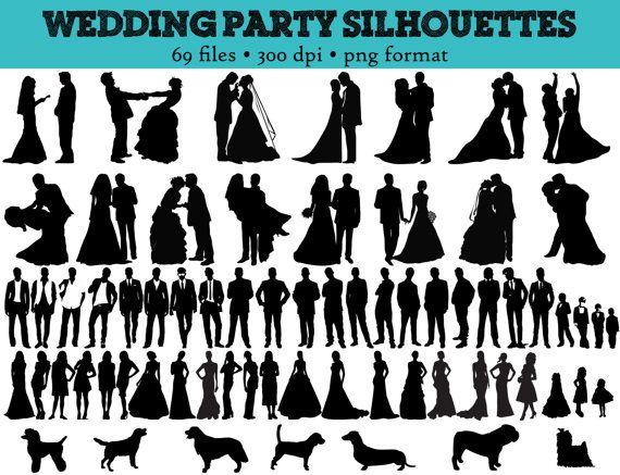 Wedding Bridal Silhouettes Party Silhoue-Wedding Bridal Silhouettes Party Silhouettes 69 Wedding Wedding-11