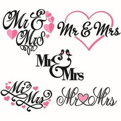 Wedding Bride Mr and Mrs Cuttable Svg Design por CuttableSVG