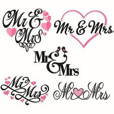 Wedding Bride Mr And Mrs Cuttable Svg De-Wedding Bride Mr and Mrs Cuttable Svg Design por CuttableSVG-12