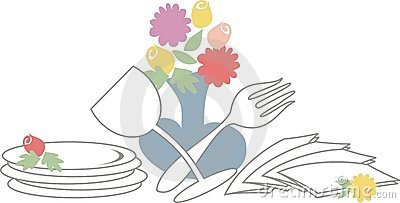 Wedding Brunch Clipart