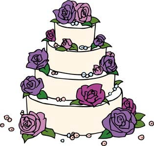 Wedding Cake Clip Art - Wedding Cake Clip Art