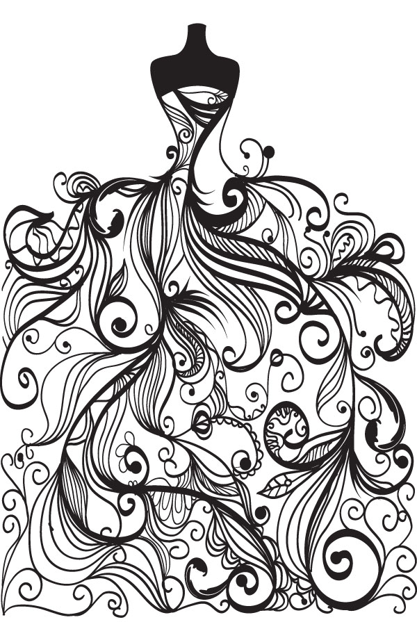 Wedding clip art free vector
