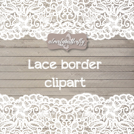Wedding clipart lace border, rustic clipart, shabby chic wedding, lace clipart, lace